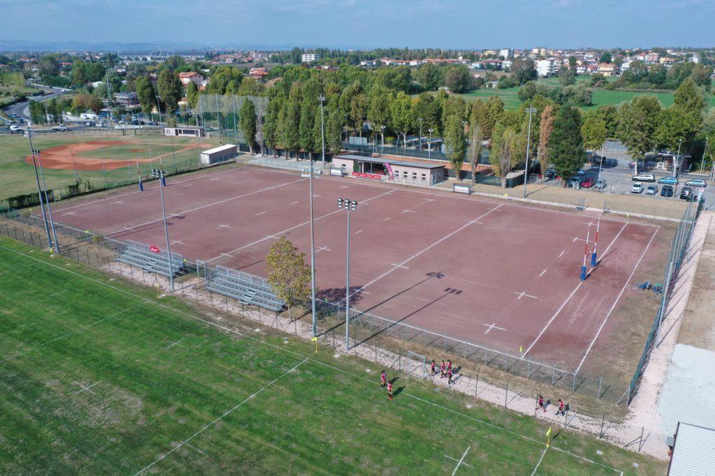 Campo da rugby visto dall'alto